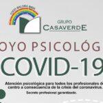 APOYO PSICOLÓGICO PARA TODOS LOS PROFESIONALES DE SUS CENTROS