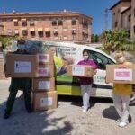 Donamos 250kg de textil a Cáritas