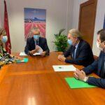 Reunión de Casaverde con el Consejero de Salud de la Región de Murcia y con la Directora General de Asistencia Sanitaria